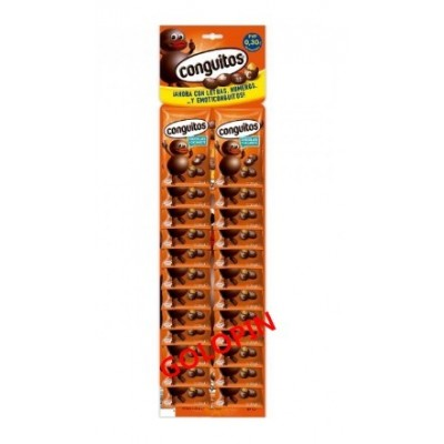 CONGUITOS CHOCOLATE EXPOSITOR 24 UDES X 20 GRS